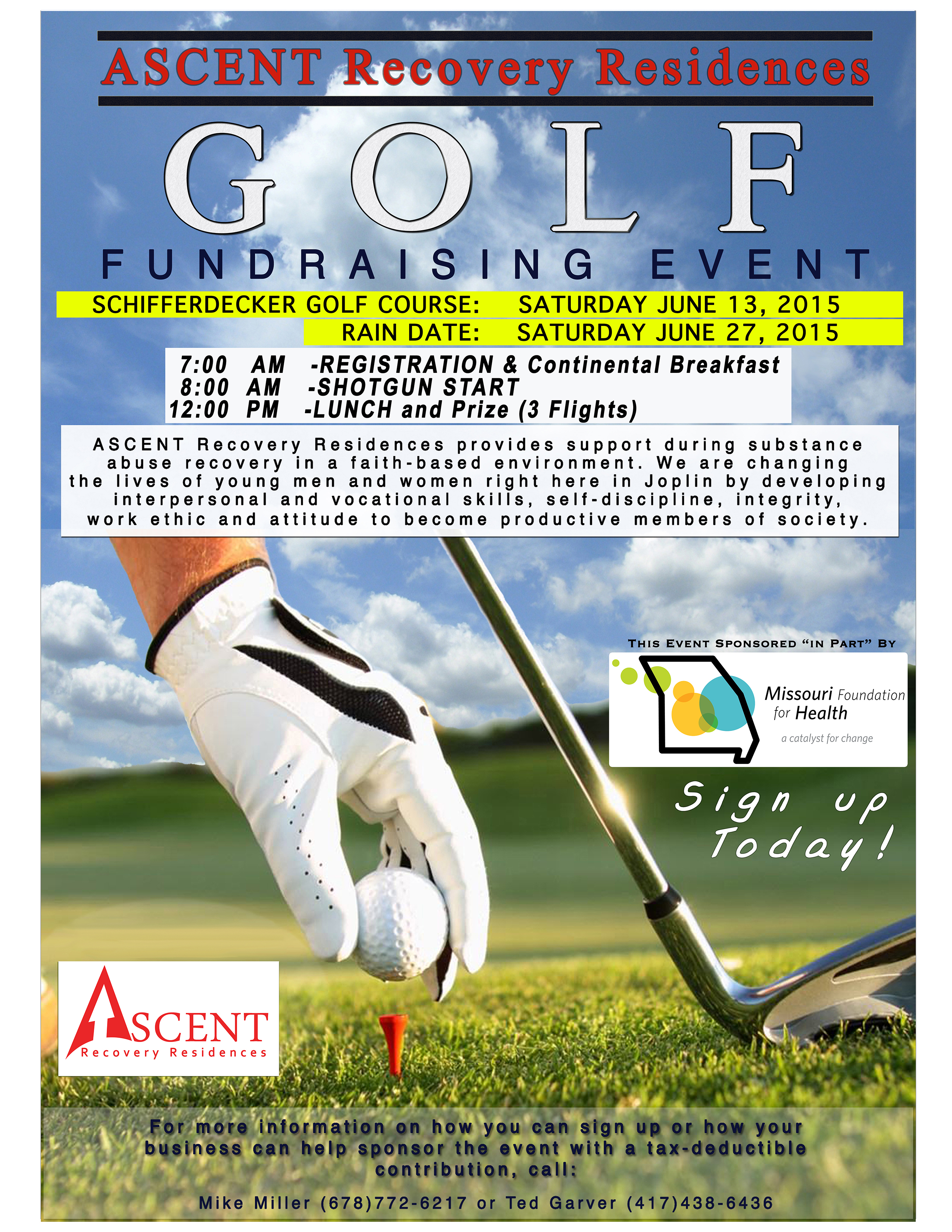 ascent golf outing 2015 registration form ascent recovery